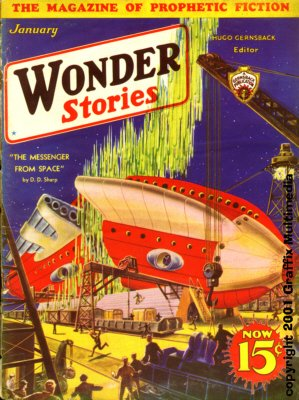 Wonder Stories January 1933 Frank R.Paul cover