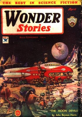 Wonder Stories April 1934 Frank R.Paul cover
